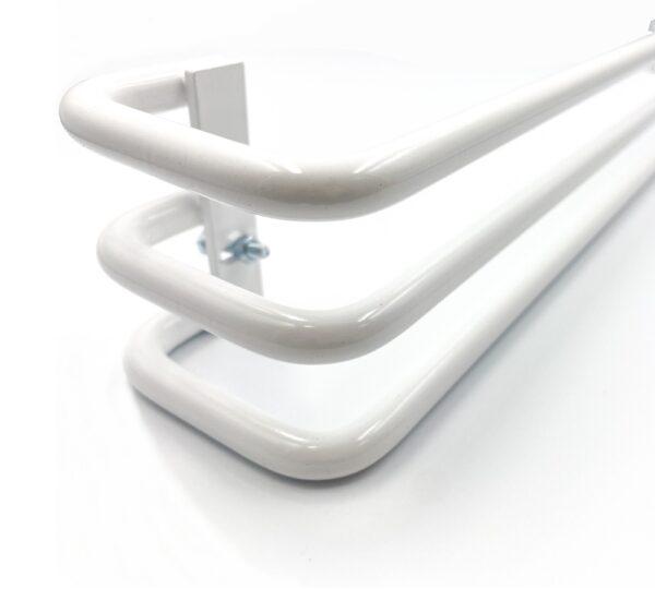 Reling na ręczniki TRI biały połysk do grzejnika Splendor