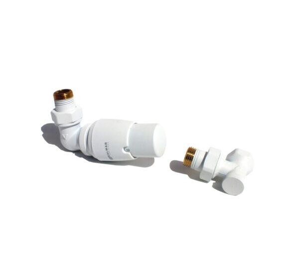 PLANITI - Varioterm komplet termostatyczny biały strukturalny głowica w prawo, zasilenie na zaworze termostatycznym